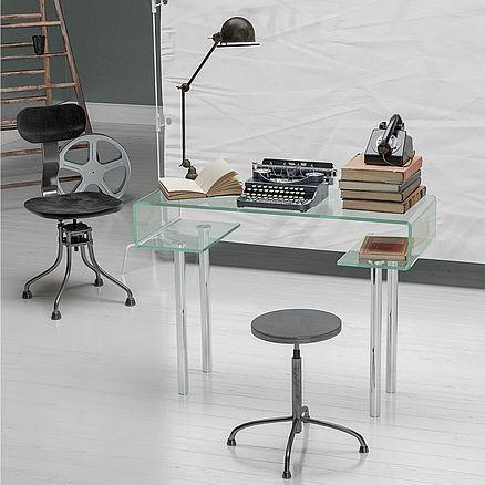 Glas Glasmöbel Büro Schreibtisch